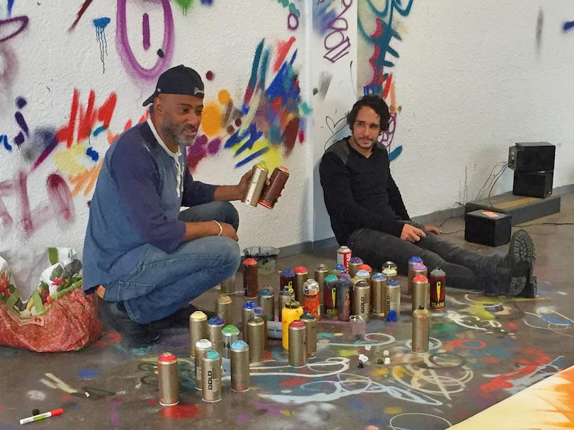 Torrick Ablack dans son atelier, à New-York